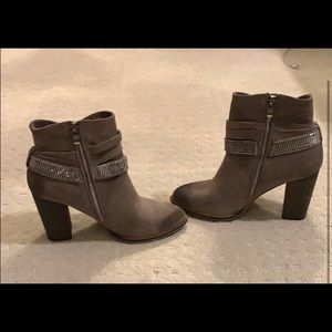 Nine West Genuine Suede Ankle Boots